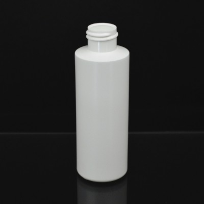 4 oz 20/410 Cylinder Round White HDPE Bottle