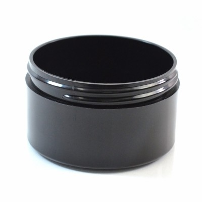 6 OZ 89/400 Thick Wall Straight Base Black PP Jar - 140/Case