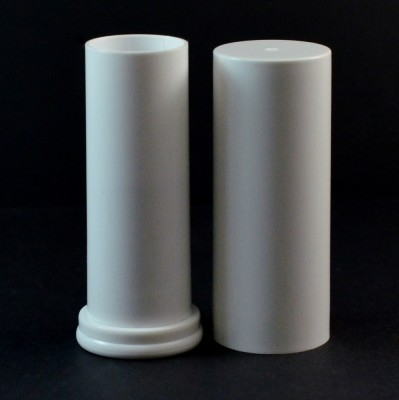 .63 oz White Large Lip Balm Container, 3.15