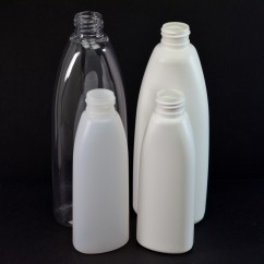 Teardrop Oval Plastic Bottles