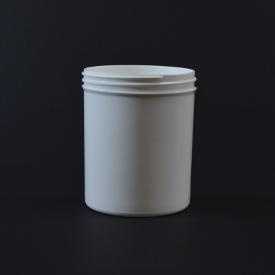 20 oz 89/400 Regular Wall Straight Base White PP Jar