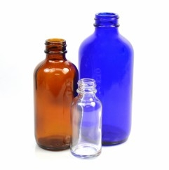 Boston Round Glass Bottles