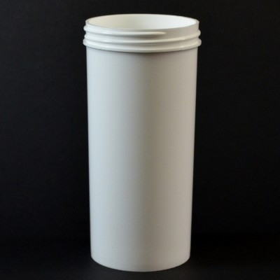 10 oz 63/400 Regular Wall Straight Base White PP Jar