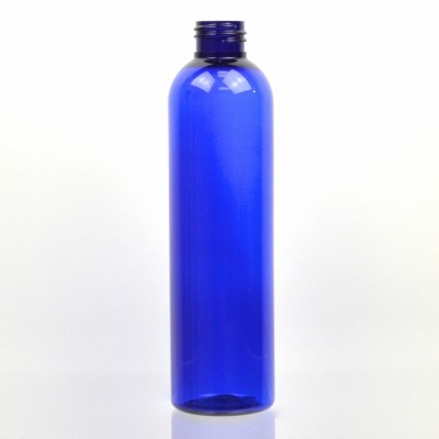 8 oz 24/410 Cosmo Round Cobalt PET Bottle