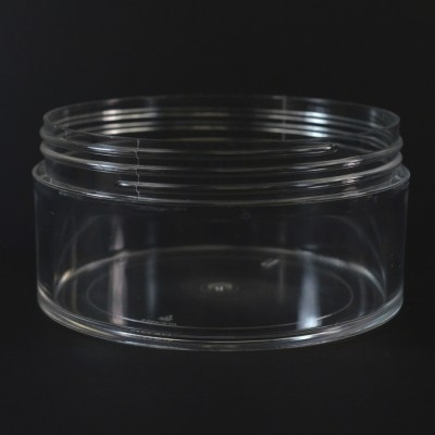 6 OZ 89/400 Thick Wall Straight Base Clear PS Jar - 168/Case