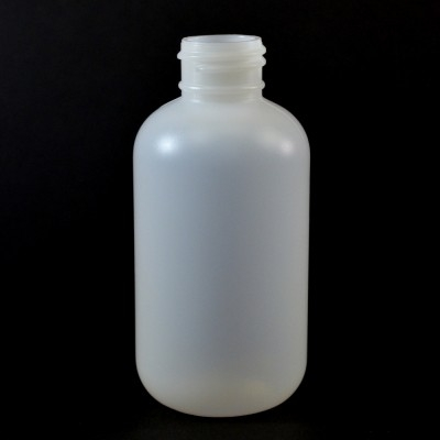 4 oz 24/410 Boston Round Natural HDPE Bottle