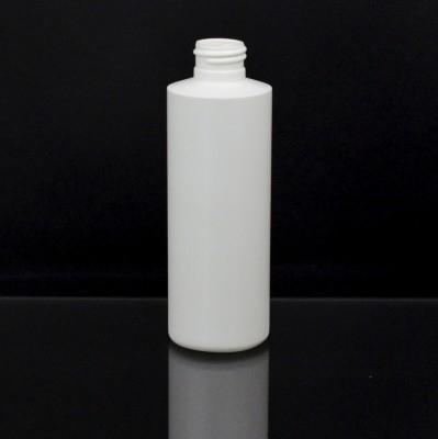 6 oz 24/410 Cylinder Round White HDPE Bottle