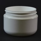 1 oz 53/400 Double Wall Round Base White PP Jar