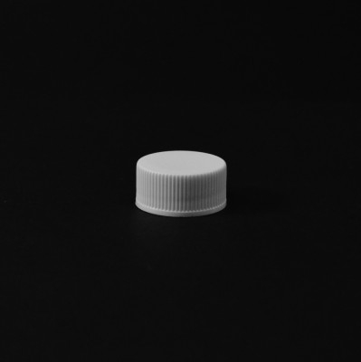 20/400 White Ribbed Straight PP Cap / PS Liner - 10250/Case