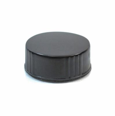28/400 Black Phenolic Cone Lined (Polyseal) Cap