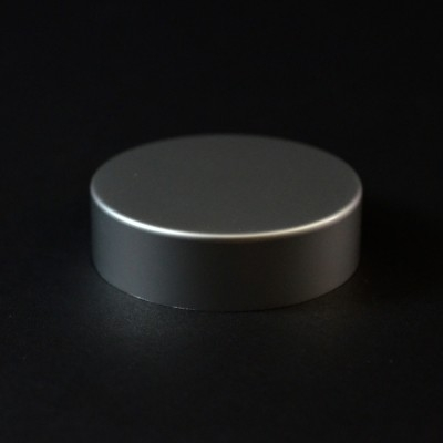 48/400 Matte Silver Metal Overshell Straight Sided Cap Foam Liner - 1000/Case
