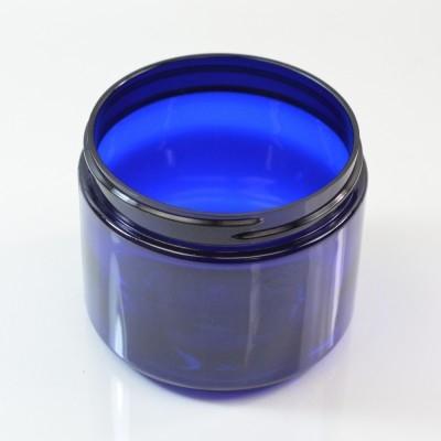 6 oz 70/400 Wide Mouth Cobalt Blue PET Jar