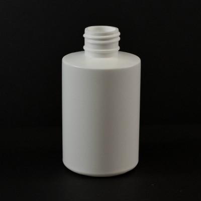 6 oz 24/410 Squat Cylinder Round Natural HDPE Bottle