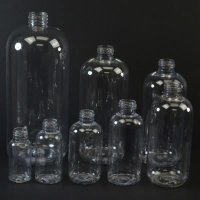 Boston Round Plastic Bottles