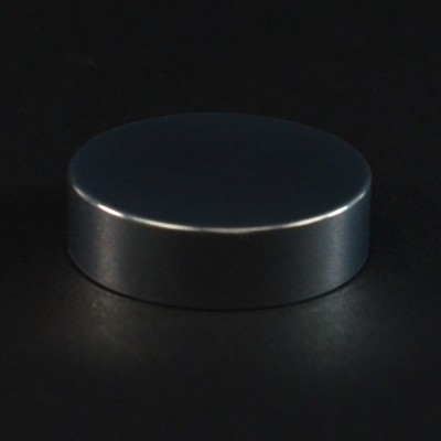 40/400 Shiny Silver Metal Overshell Straight Sided Cap F217