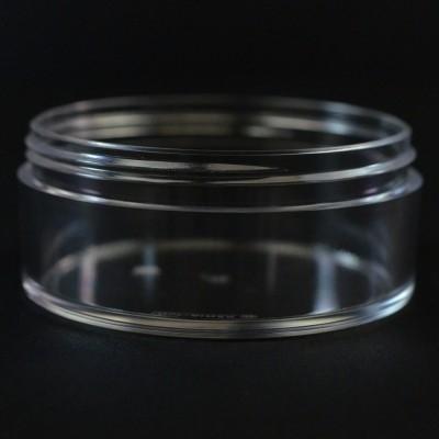 100 ML 83/400 Heavy Wall Low Profile Clear PETG Jar
