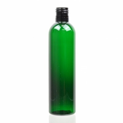 8 oz 24/415 Cosmo Round Emerald PET Bottle