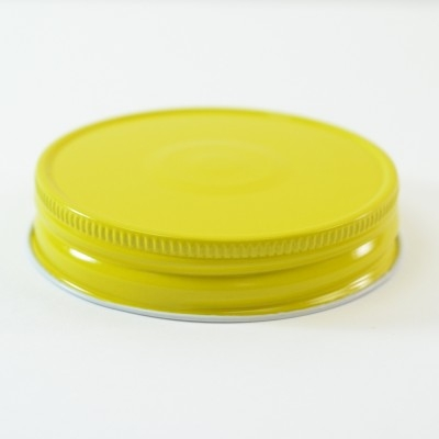 70G-450 Yellow-White with Button Metal Cap with Plastisol Liner