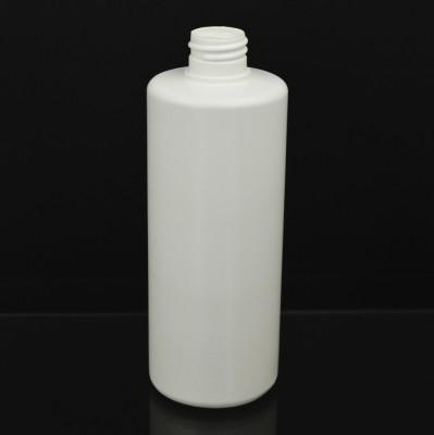 16 oz 28/410 Squat Cylinder Round White HDPE Bottle