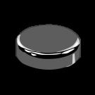 58/400 Silver Metalized Plateau Cap F217