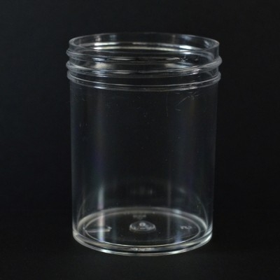 3 oz 53/400 Regular Wall Straight Base Clear PS Jar