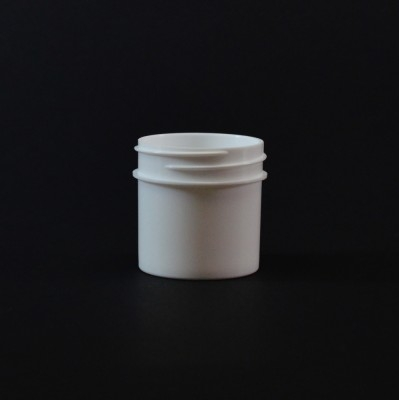 1 oz 43/400 Regular Wall Straight Base White PP Jar