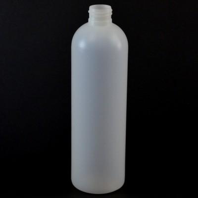 12 OZ 24/410 Royalty Round Natural HDPE Bottle - 327/case
