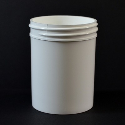 3 oz 53/400 Regular Wall Straight Base White PP Jar