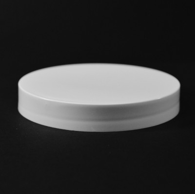 89/400 White Smooth Straight PP Cap / Unlined - 580/Case