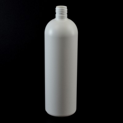 20 oz 24/415 Royalty Round White HDPE Bottle