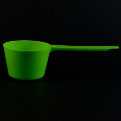 90 cc Plastic Measuring Scoop Green Long Handle 5.978 X 2.478 X 1.652