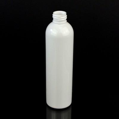 6 oz 24/410 Cosmo Round White PET Bottle