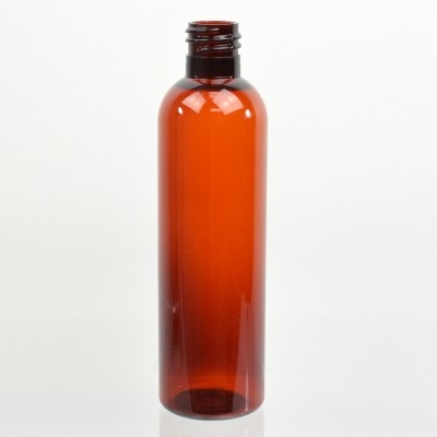 4 oz 20/415 Cosmo Round Amber PET Bottle