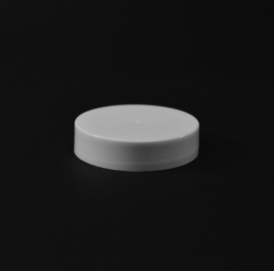 45/400 White Smooth Straight PP Cap / Unlined - 2000/Case