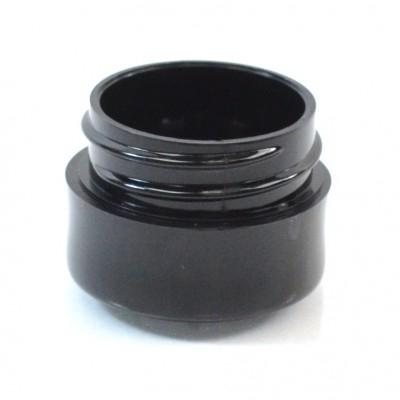 1/8 oz 33/400 Black Thick Wall Straight Base PP Jar