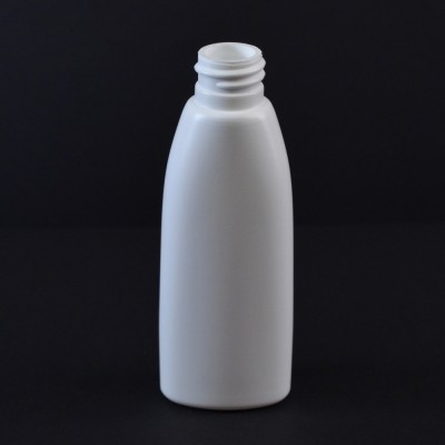 2 oz 20/410 Teardrop Oval White HDPE Bottle