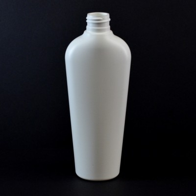 8 oz 20/410 Vail Oval White HDPE Bottle