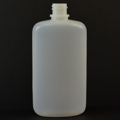 4 oz 18/410 W/R Drug Oval Natural HDPE Bottle
