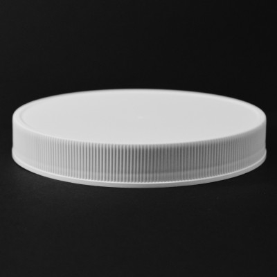 120/400 White Ribbed Straight PP Cap / Unlined - 228/Case
