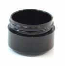 1/2 oz 43/400 Black Thick Wall Straight Base PP Jar