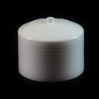 24/410 White Push Pull Convex Dispensing Symmetrical Cap to 8 oz #204