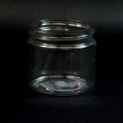 2 oz 48/400 Wide Mouth Clear PET Jar