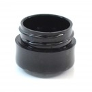 1/8 oz 33/400 Black Thick Wall Straight Base PP Jar