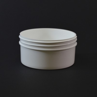 4 oz 89/400 Regular Wall Straight Base White PP Jar