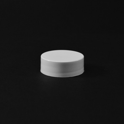 24/400 White Smooth Straight PP Cap / PS Liner - 6500/Case