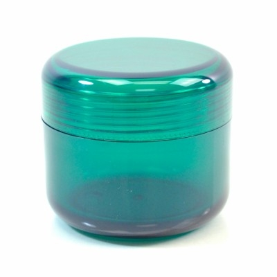 1 oz 43 MM Emerald Thick Wall Round Base SAN Jar