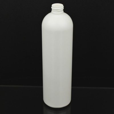 16 oz 24/410 Imperial Round White HDPE Bottle