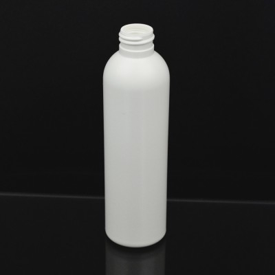 6 oz 24/410 Imperial Round White HDPE Bottle