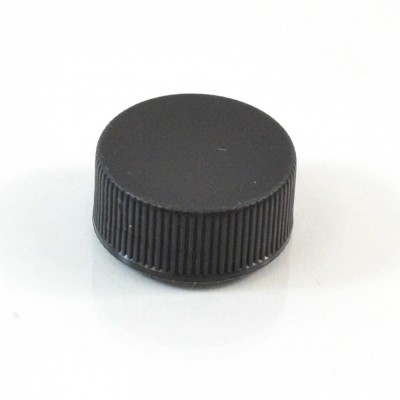 22/400 Black Ribbed Straight PP Cap / F217 Liner