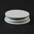38/400 CT White White Metal Continuous Thread Caps